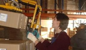 High-rack-storage-of-cardboard-boxes--profiled-handles